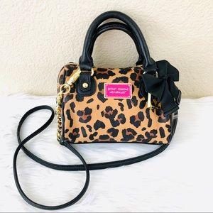 {Betsey Johnson} Leopard Print Mini Satchel